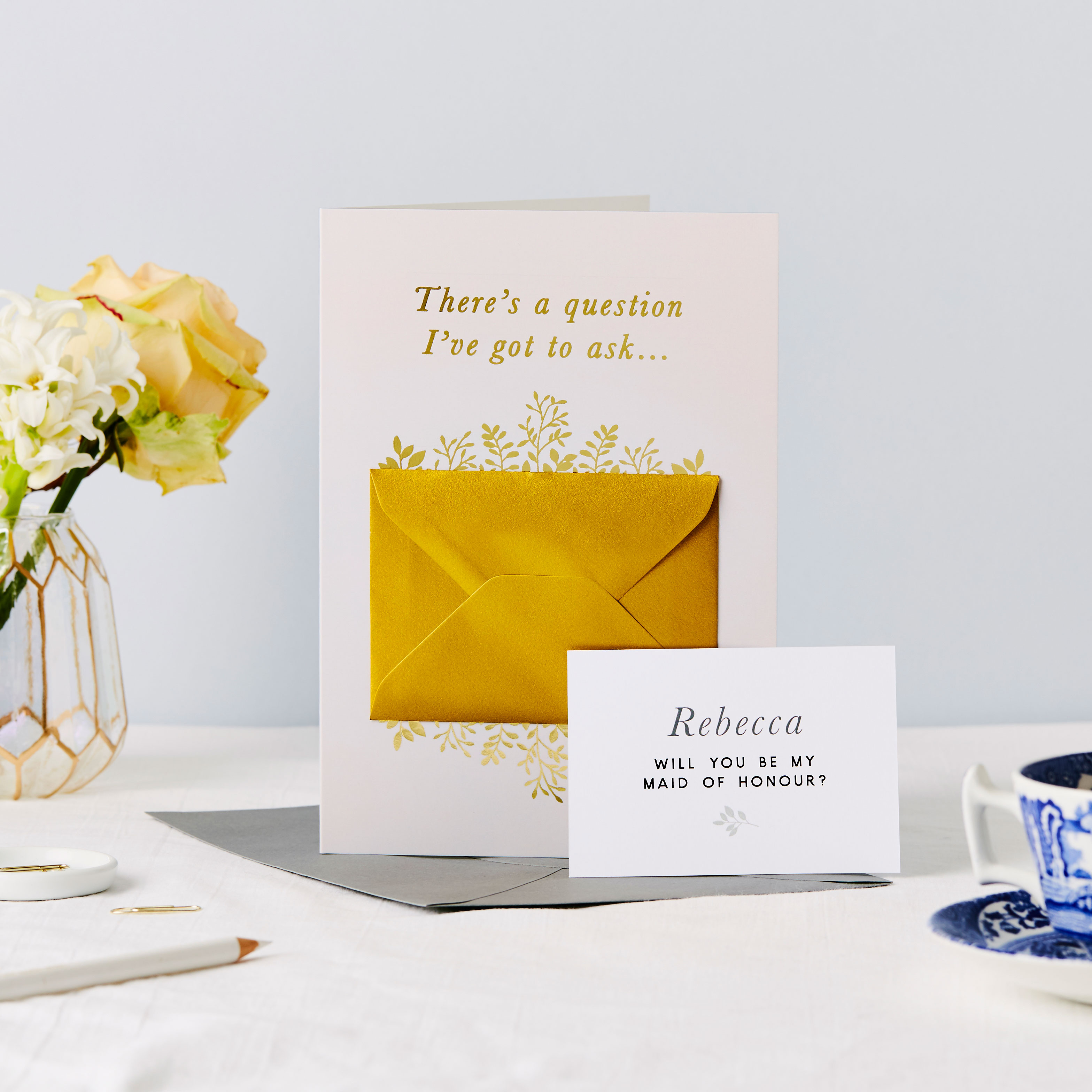 Be My Maid of Honour Foiled Secret Message Card