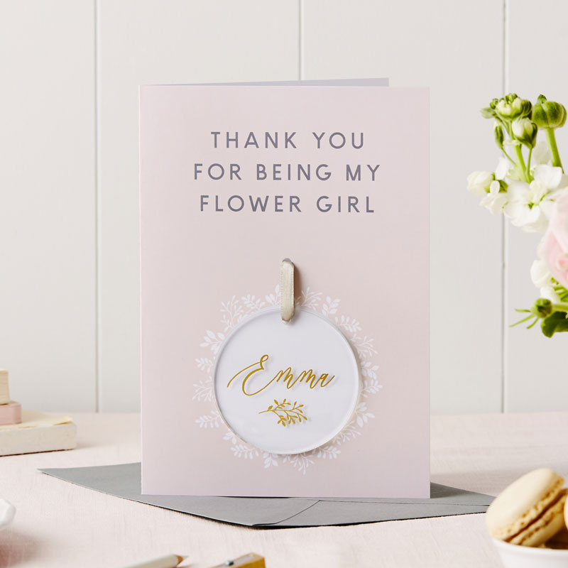 Flower Girl Thank You Keepsake Card