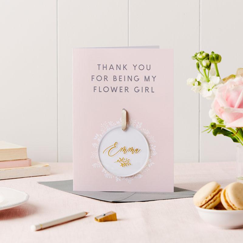 Flower Girl Thank You Keepsake Card