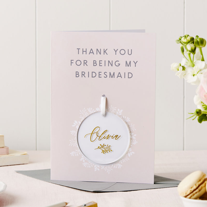 Bridesmaid Thank You Keepsake Card