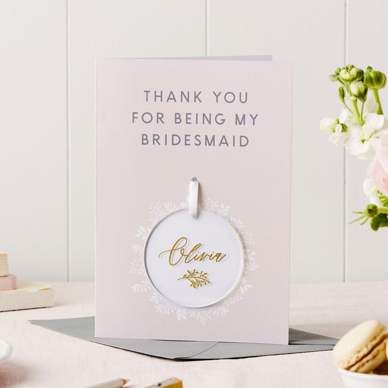 Bridesmaid Thank You Keepsake Card