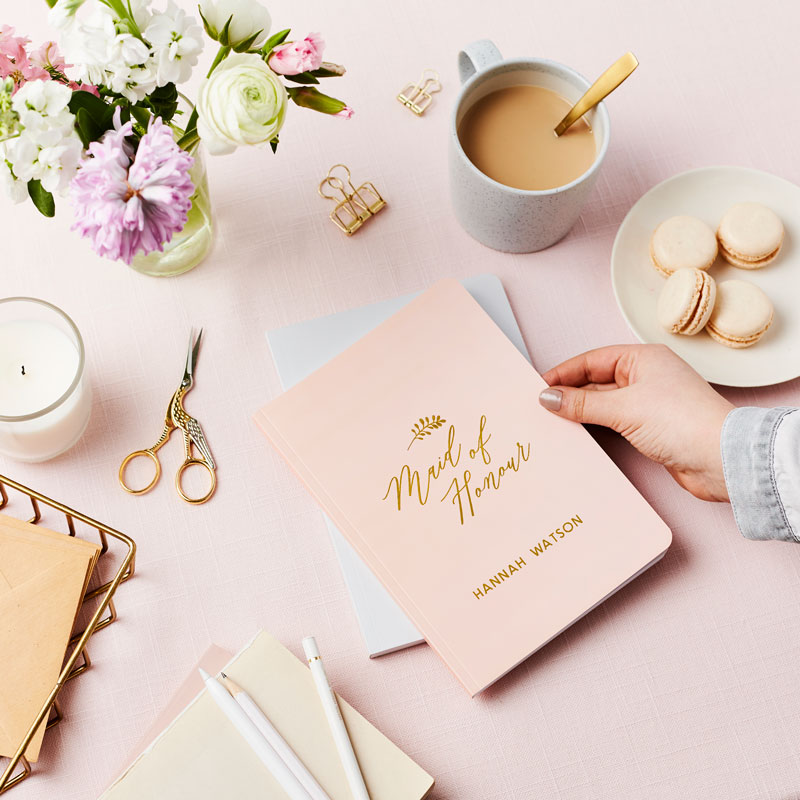 Maid of Honour Foiled Notebook