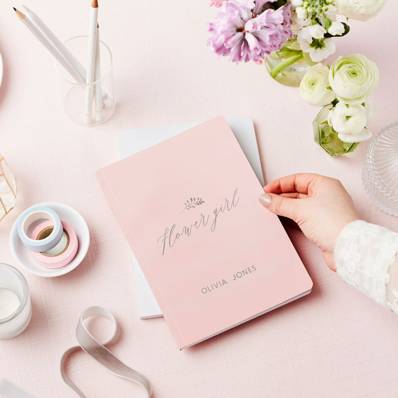 Flower Girl Foiled Notebook