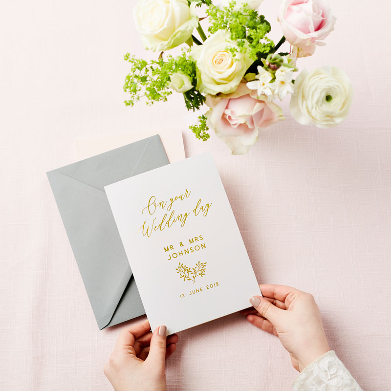 On Your Wedding Day Foiled Card
