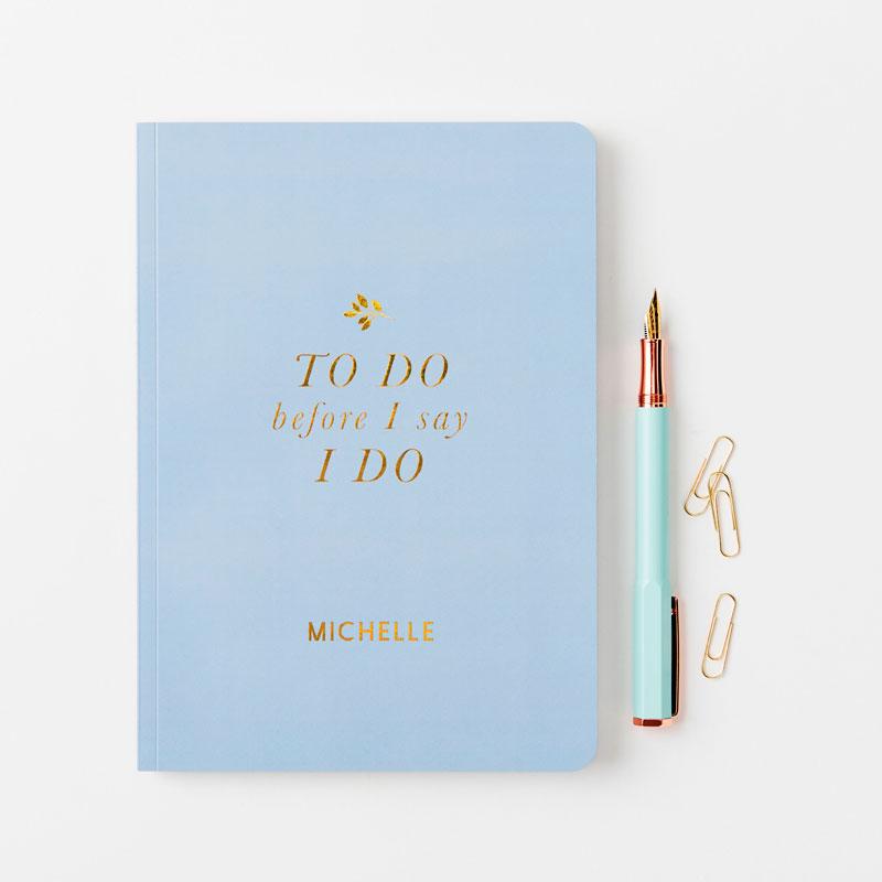 Bride's To Do Foiled Notebook