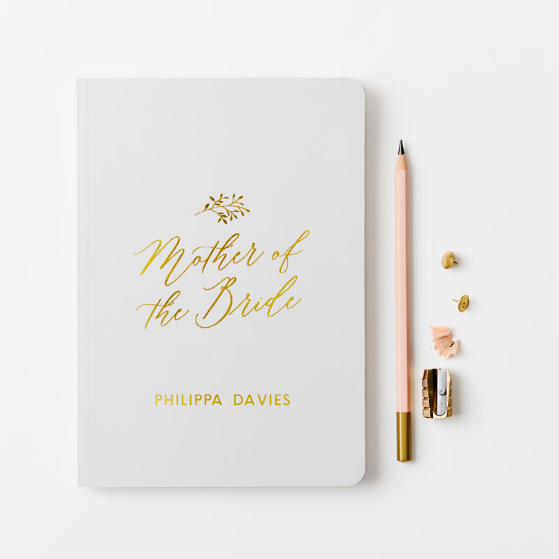 Mother of the Bride Foiled Notebook