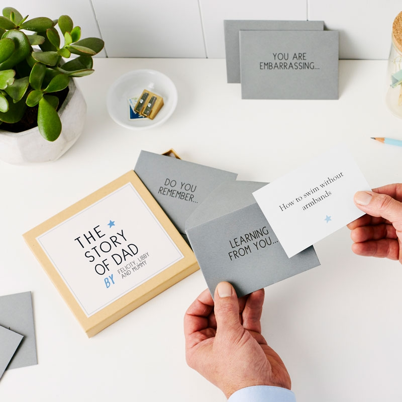 'The Story Of Dad' Messages Gift Box
