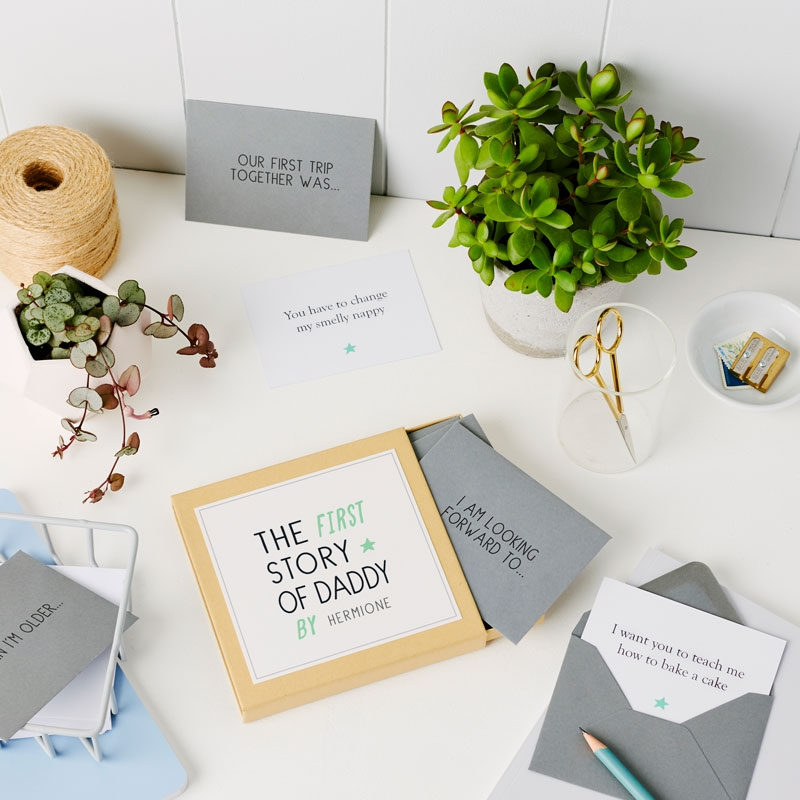 Personalised First Story Of Dad Box
