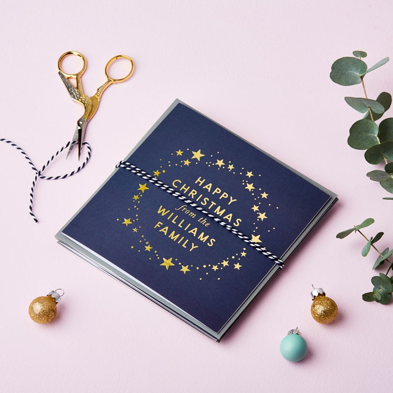 Celestial Foiled Christmas Card Pack