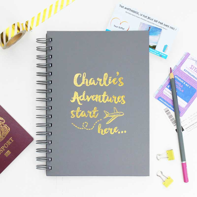Travel Adventures Notebook