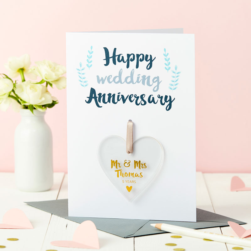 Anniversary Foiled Keepsake Card
