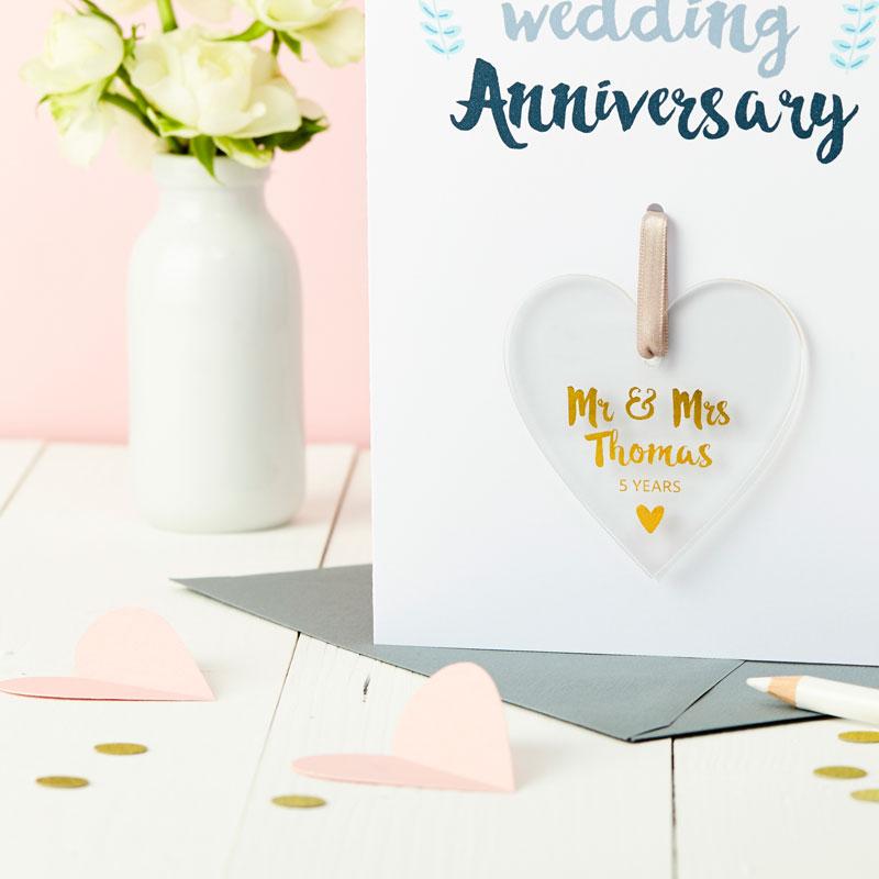 Anniversary Foiled Keepsake Card