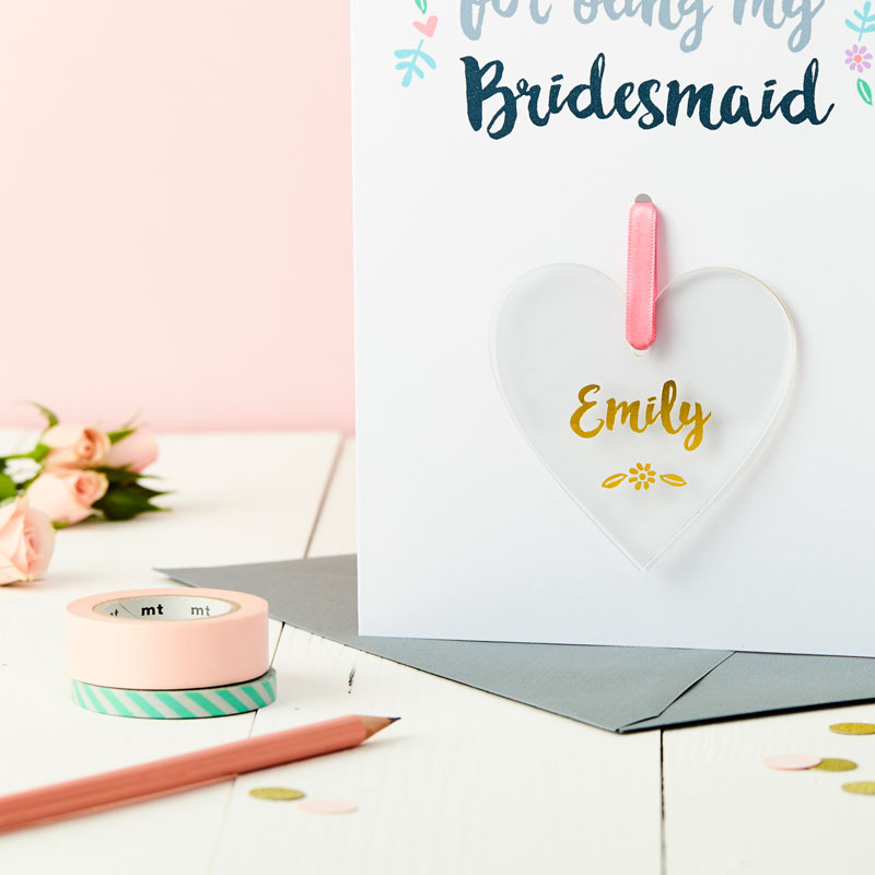 Bridesmaid Keepsake Thank You Card