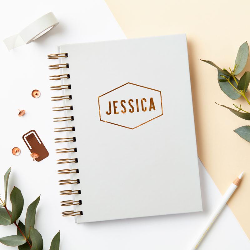 Copper Name Notebook