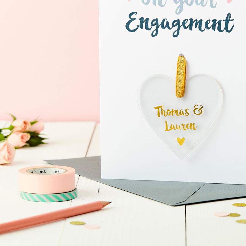Engagement Foiled Keepsake Card