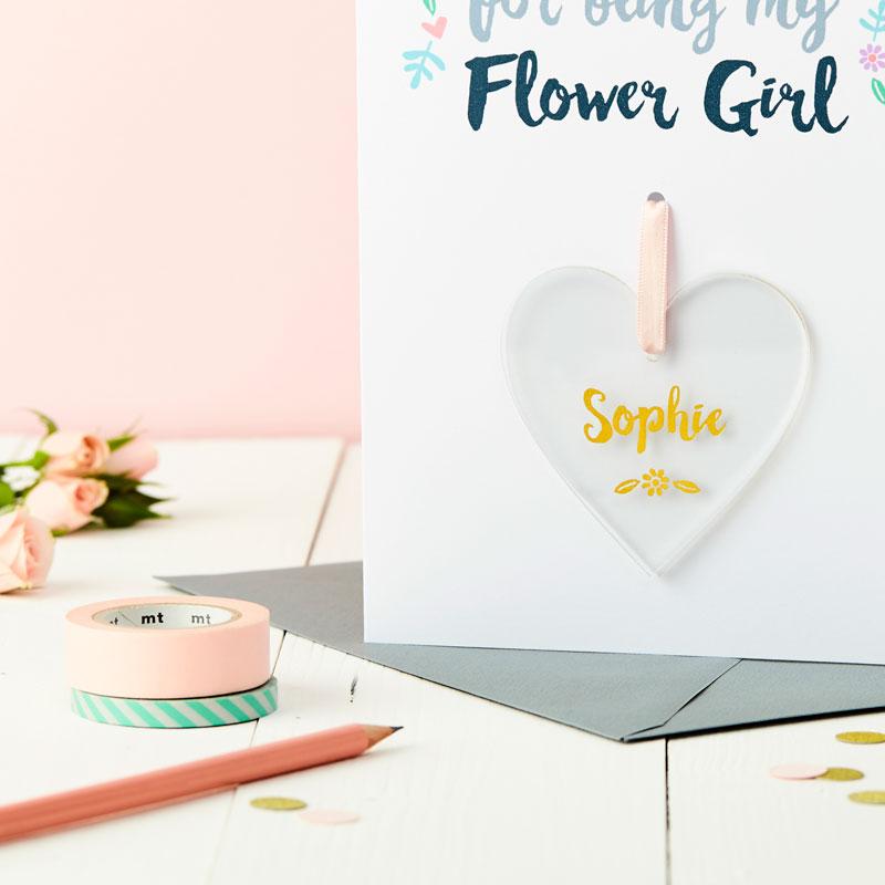 Flower Girl Keepsake Thank You Card