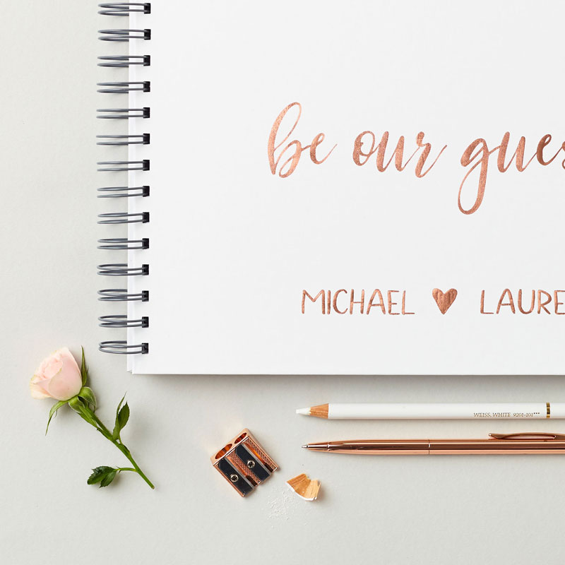 Rose Gold Wedding Guest Book