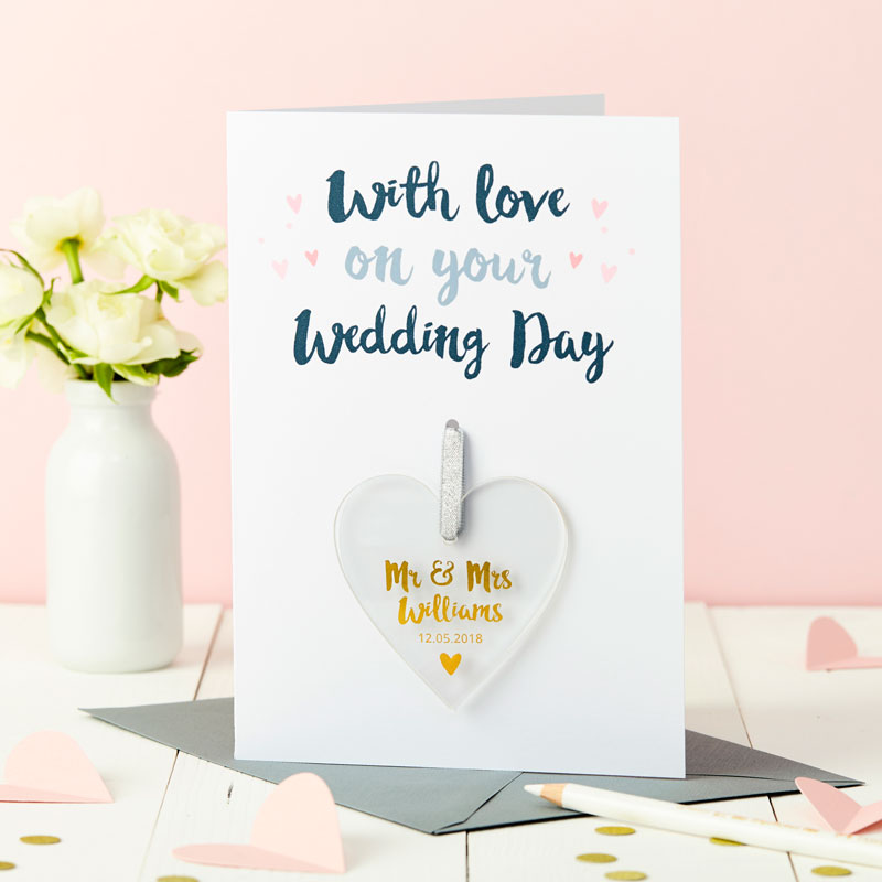 Wedding Foiled Keepsake Card