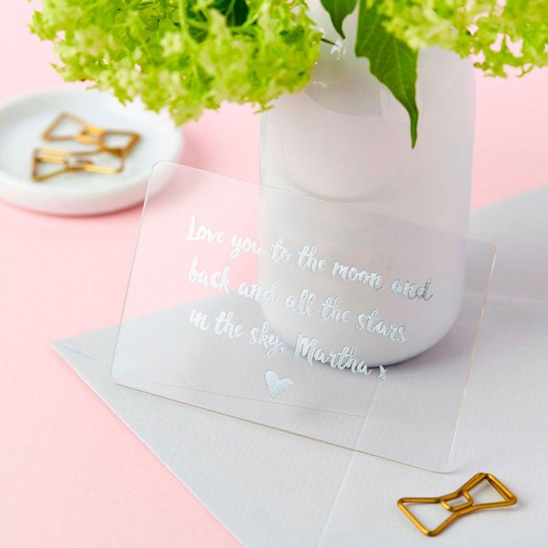 Love Keepsake Foiled Wallet Card