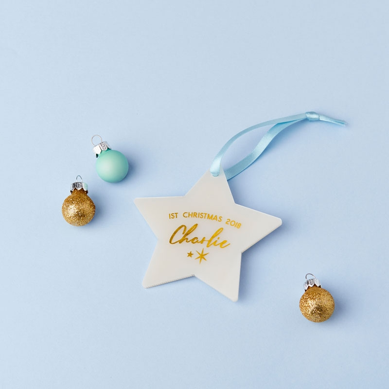 Baby's First Christmas Star Decoration Card