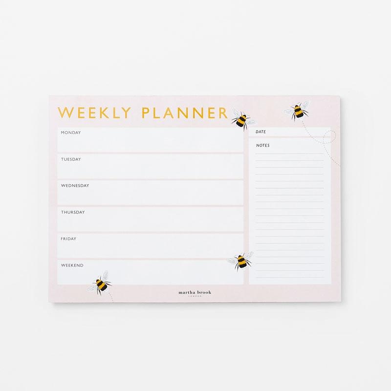 Bee Weekly Planner Pad