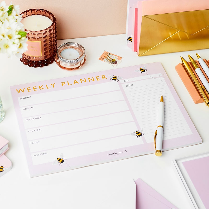 Bee Weekly Planner Pad