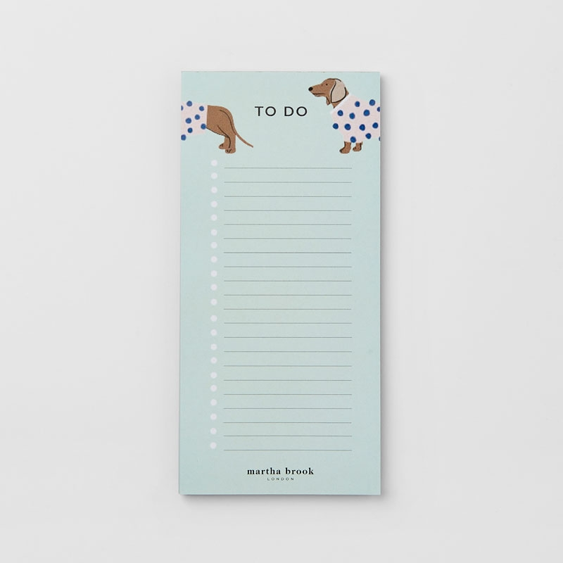 Dapper Dogs To Do List Pad