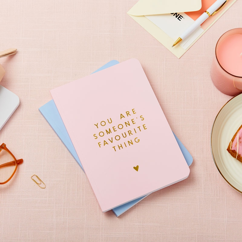 Any Text Foiled Softback Notebook