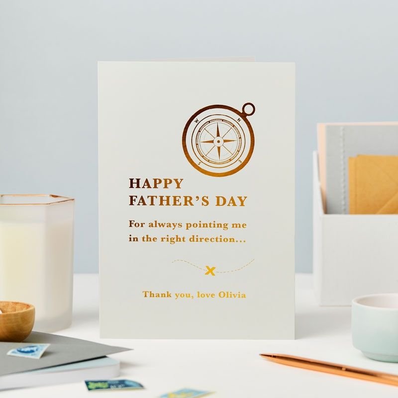 Foiled Father's Day Compass Card