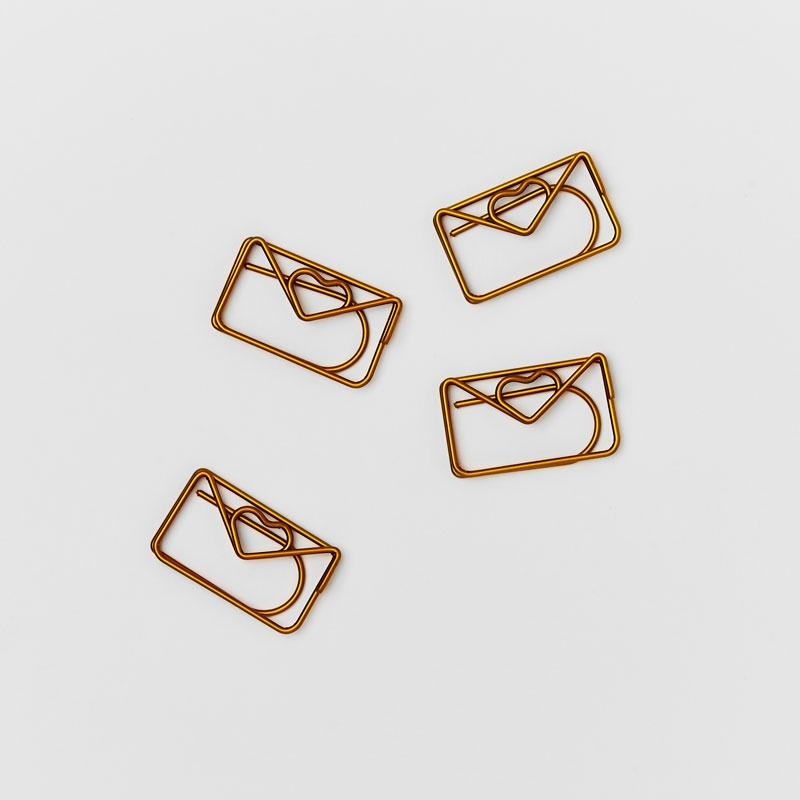 Brass Love Letter Paperclips