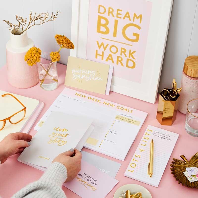 New Goals Weekly Planner Desk Pad