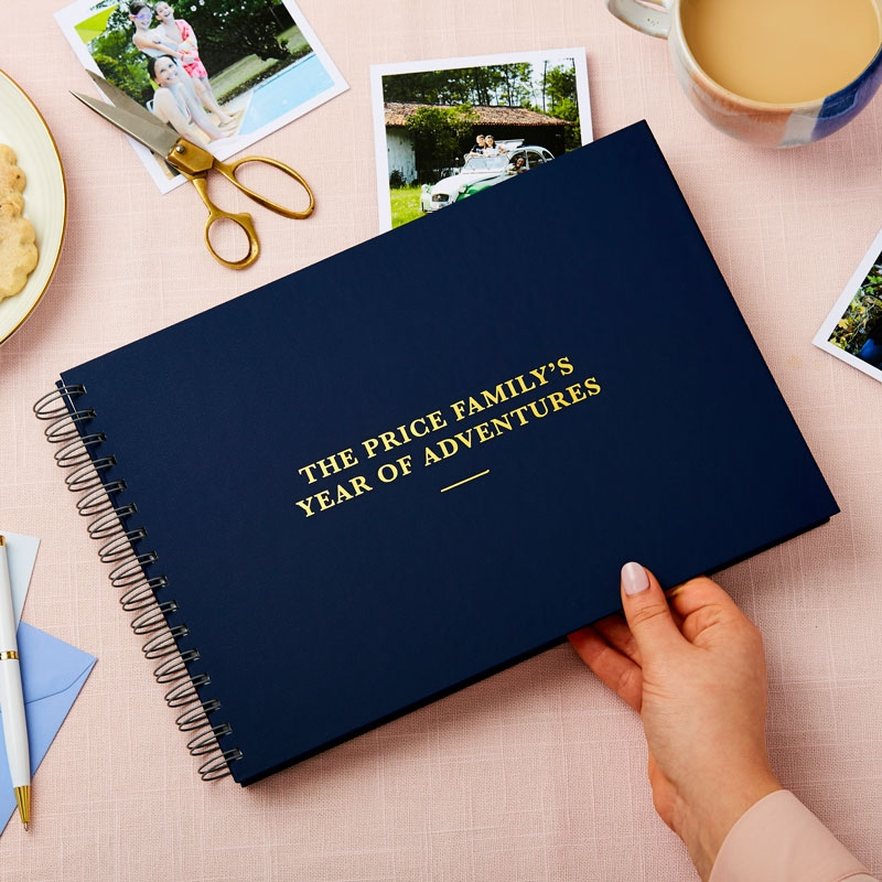 Any Text Foiled Photo Album