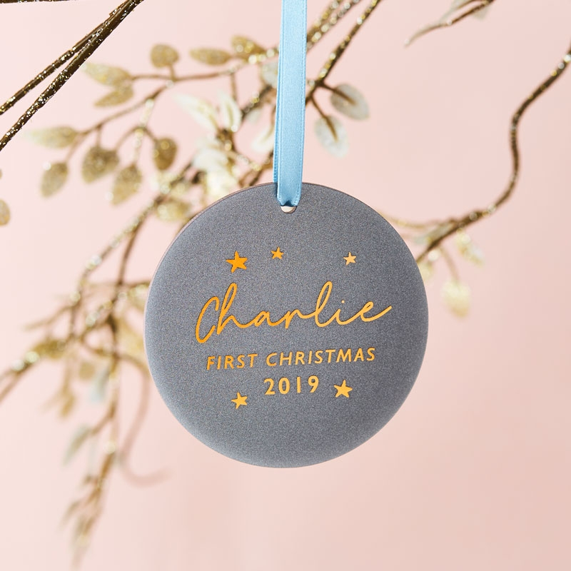 Baby's First Christmas Glitter Decoration