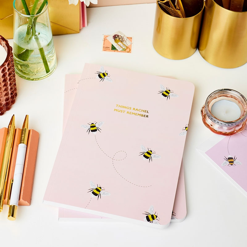 Personalised Bee Softback Notebook