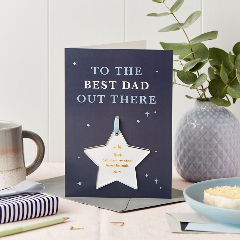 Best Dad Out There Foiled Keepsake Card