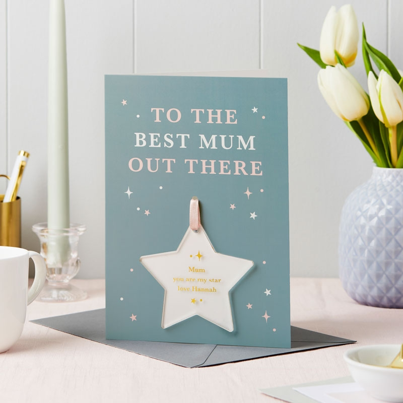 Best Mum Out There Foiled Keepsake Card
