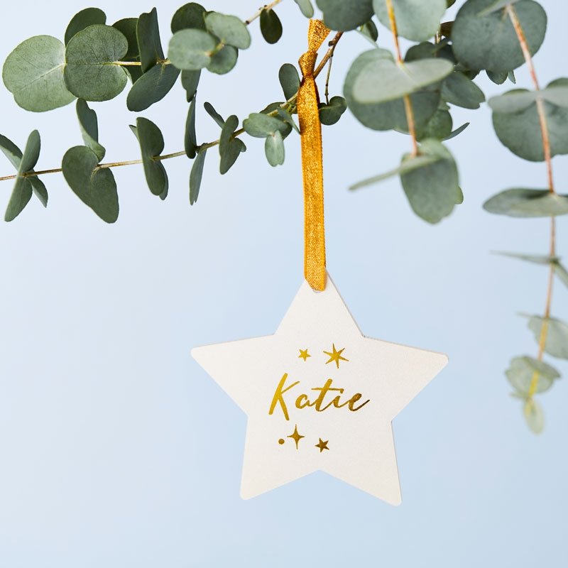 Christmas Wishes Star Decoration Card