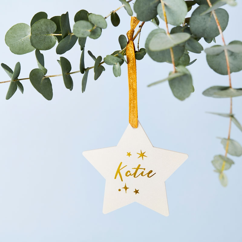 Personalised Celestial Star Decoration