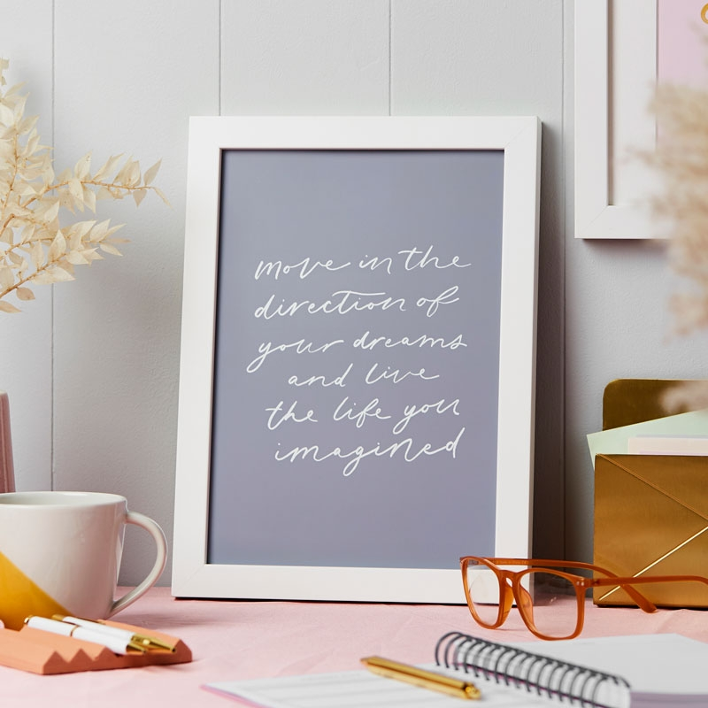 Personalised Chase Your Dreams Art Print