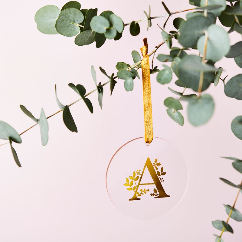 Personalised Botanical Letter Decoration