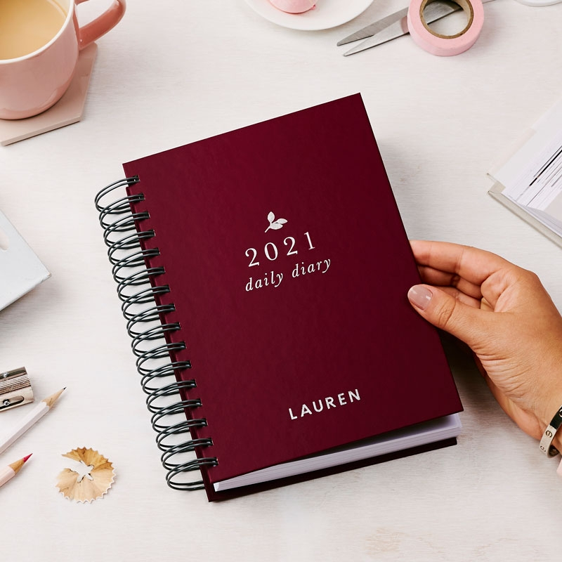 Personalised Classic 2021 Daily Diary