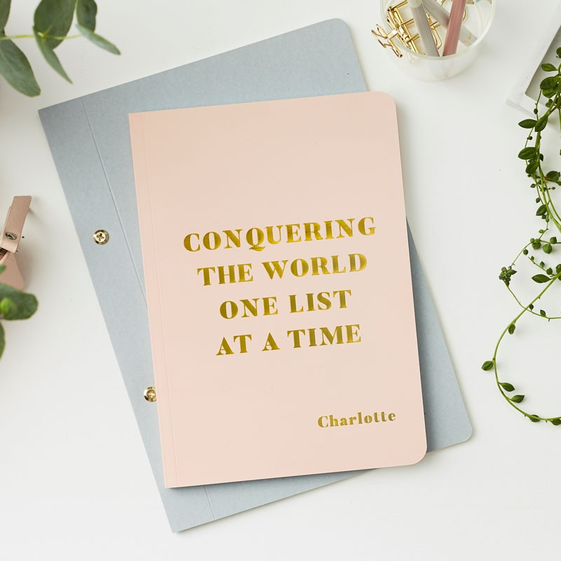Conquering The World Foiled Notebook