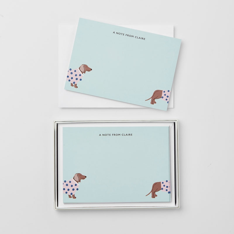 Personalised Dapper Dogs Notecard Gift Set