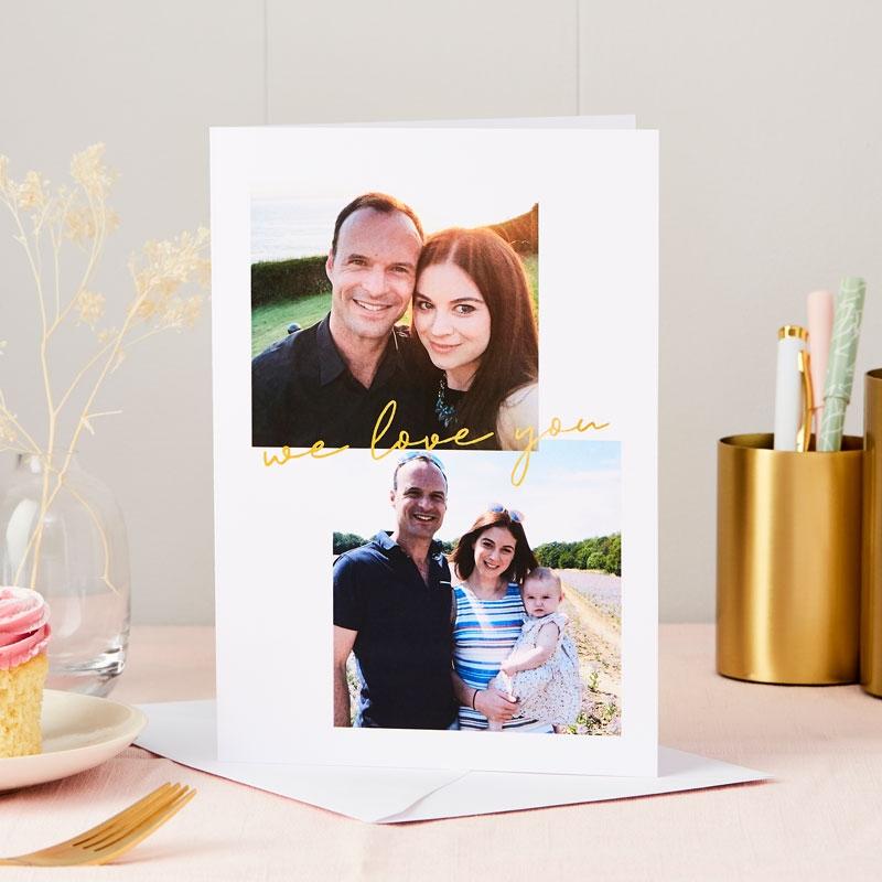 Love You Foiled Photo Card