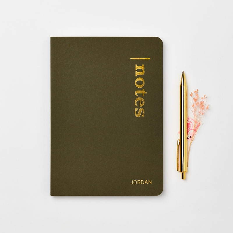 Personalised Notes Recycled Coffee Cup Notebook