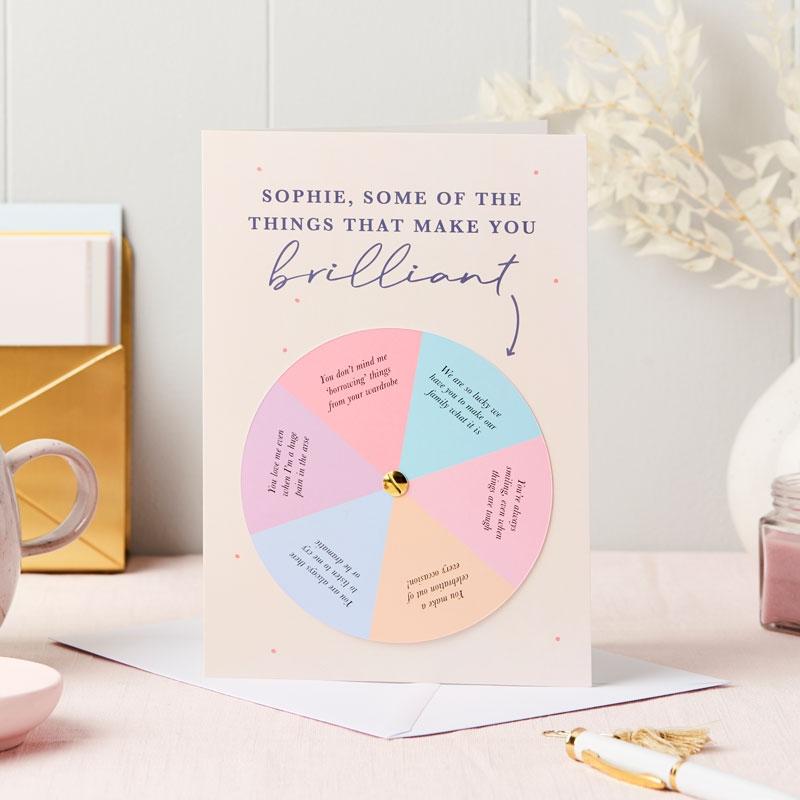 Reasons Mum Is Wonderful Spinner Card