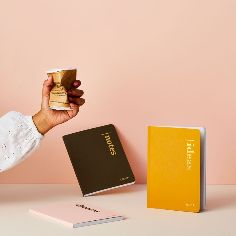 Personalised Dreams Coffee Cup Notebook