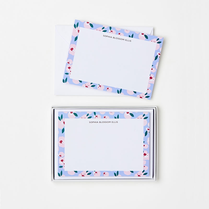 Personalised The Blossom Notecard Set