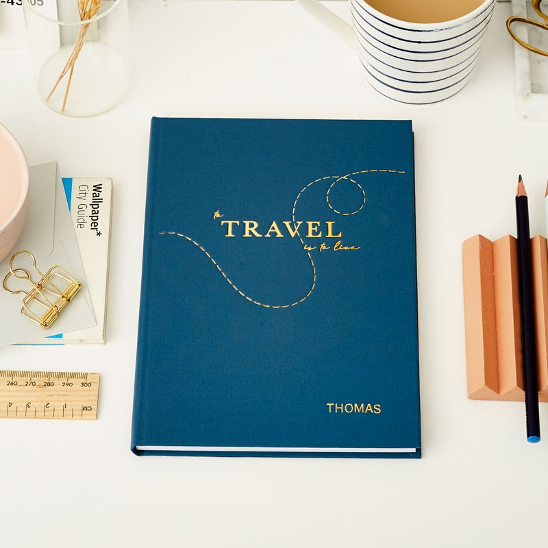 To Travel Is To Live Hardback Notebook
