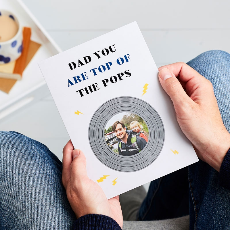 Top Of The Pops Father's Day Photo Card